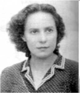 María Malla en su época de juventud