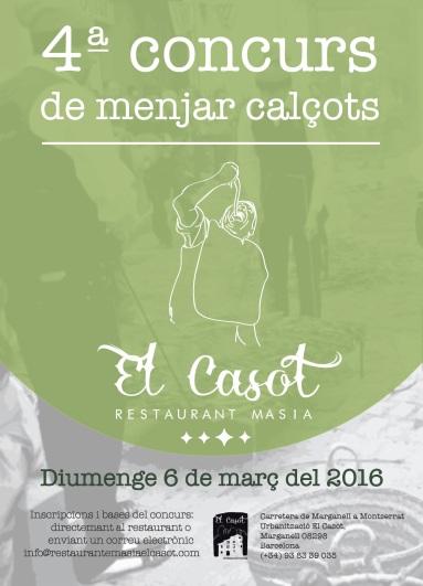 CARTELL CONCURS CALÇOTS 2016
