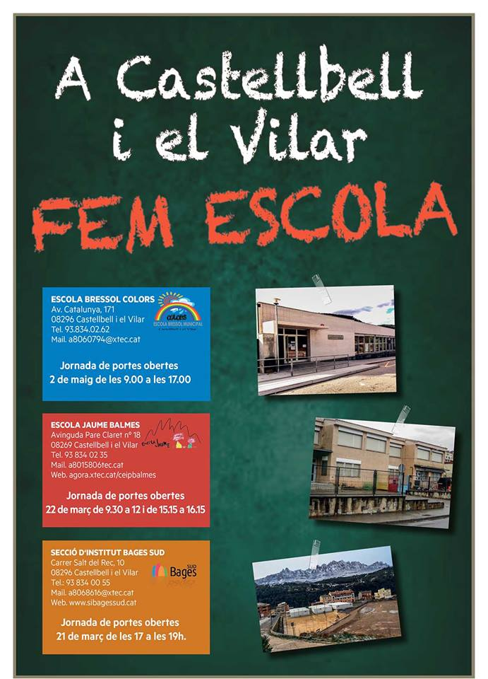Portes obertes escoles Castellbell
