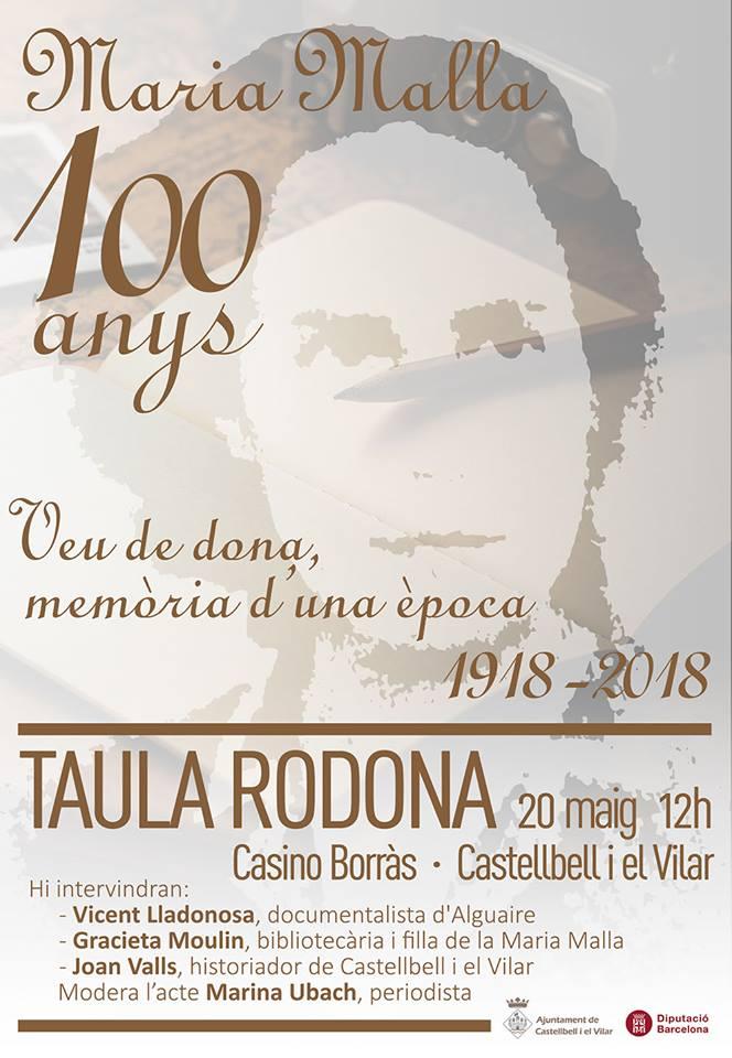 Cartell Maria Mallà